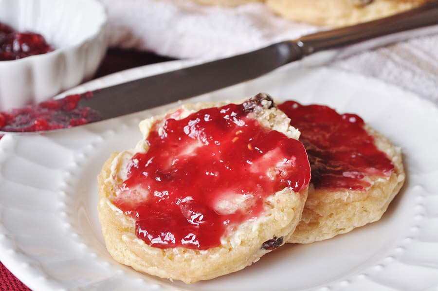 Scone with Butter & Jam
